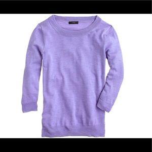J Crew Womens M Lavender Tippi Sweater Lavender